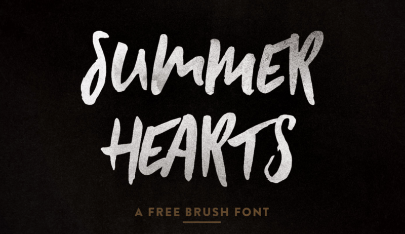 Summer Hearts Free Brush Font - 73 Best Free Fonts to Create Stunning Designs in 2018
