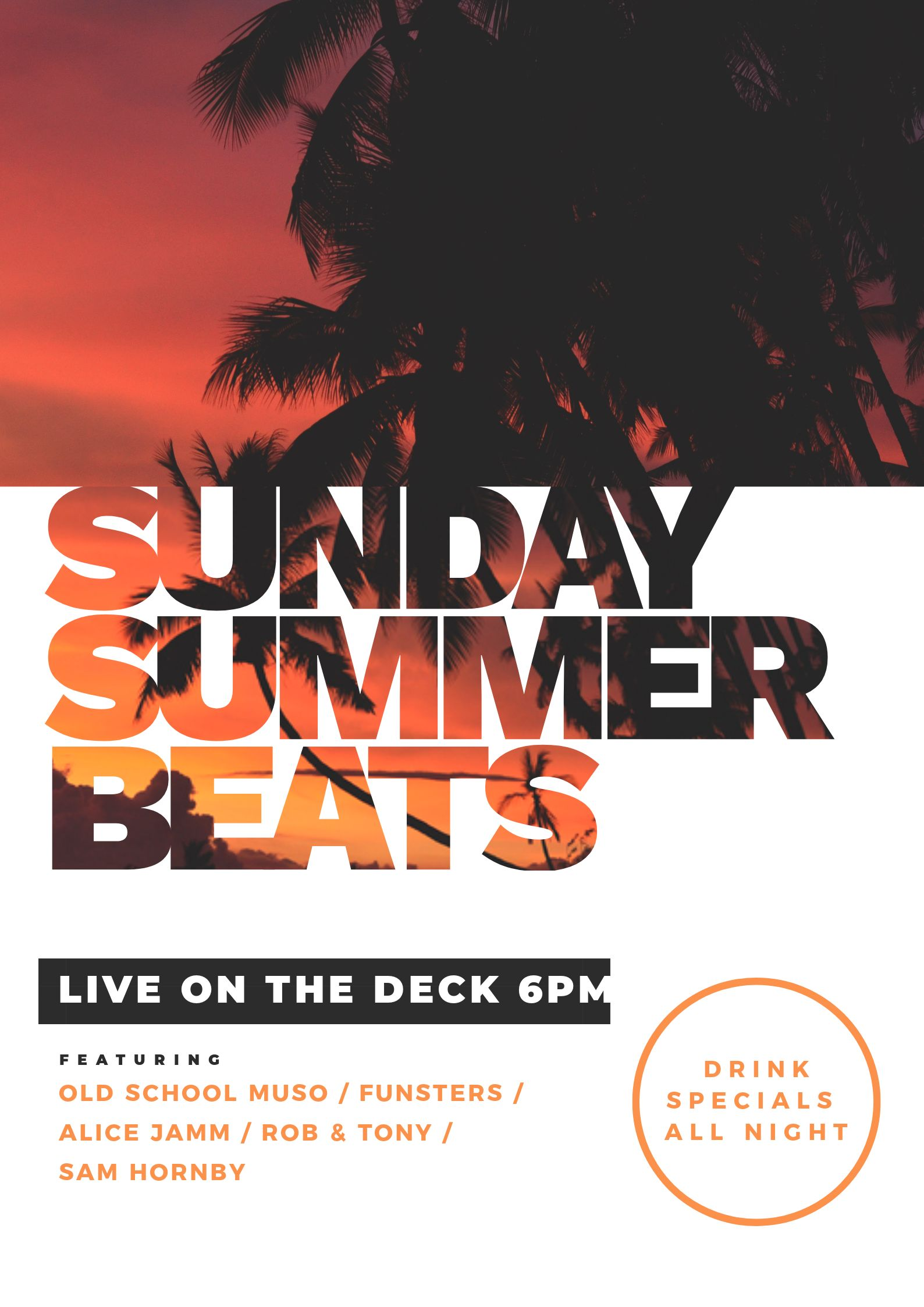 Sunday Summer Beats DJ Poster - 7 Beautiful Text Masks - How to WOW with Images in Text