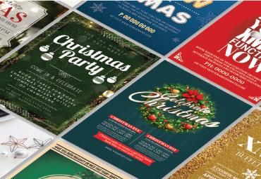 Christmas flyer templates printed selection