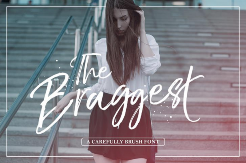 The Braggest Free Font - 73 Best Free Fonts to Create Stunning Designs