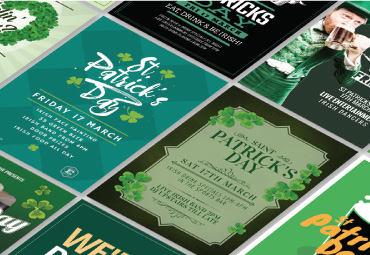 St Patrick's Day Flyer Templates printed