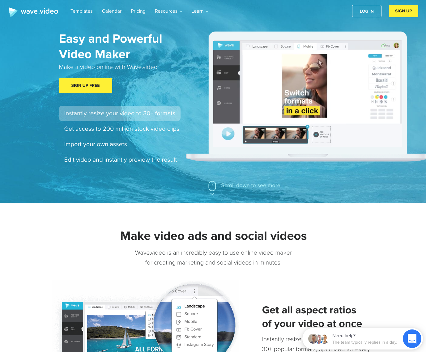 Wave.video website - 67 Awesome Visual Design Tools to Create Stunning Visual Content