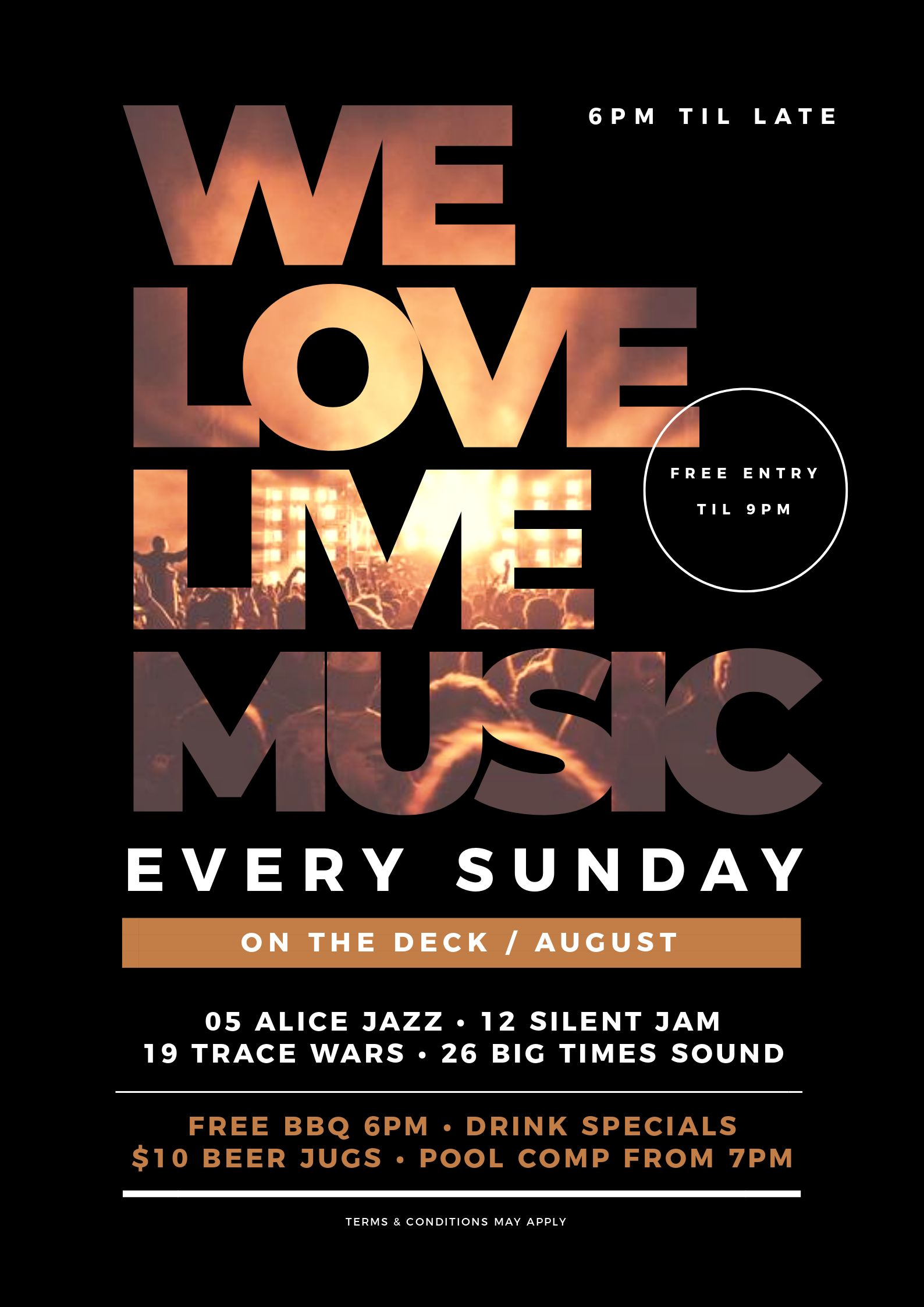 Sunday Session Music Poster using Text Masking - 7 Beautiful Text Masks - How to WOW with Images in Text
