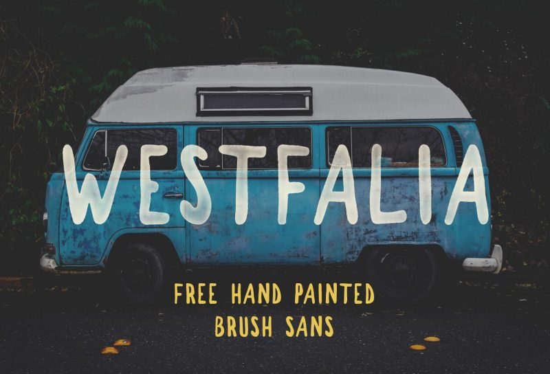 Westfalia Free Hand Painted Brush Sans - Mindfully Font - 73 Best Free Fonts to Create Stunning Designs in 2018