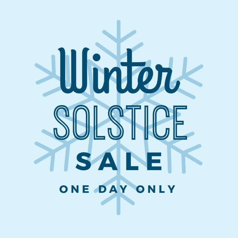 Winter Solstice Sale Template by Easil - December Content Calendar Ideas + Templates