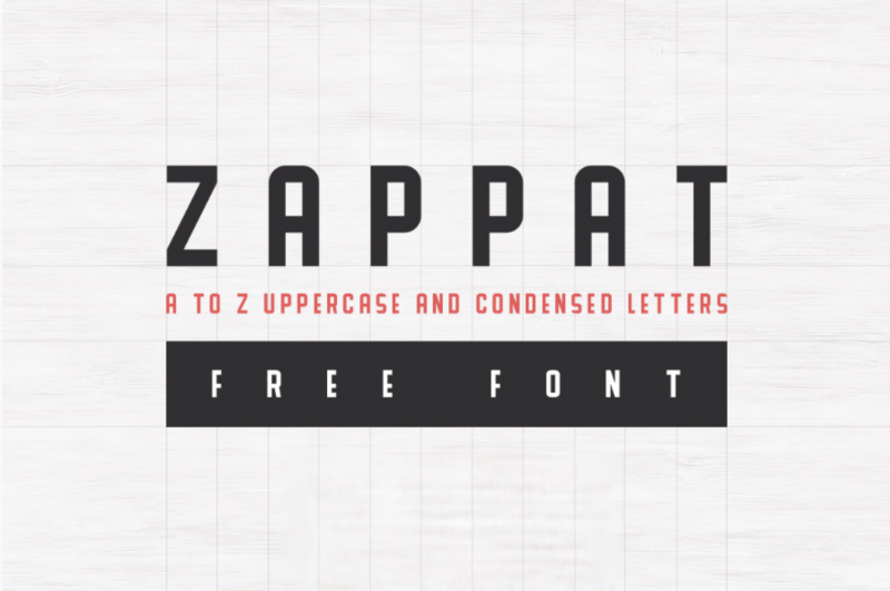 Zappat Free Font - 73 Best Free Fonts to Create Stunning Designs in 2018